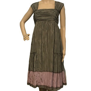 Peruvian Connection Silk Crepe Crinkle Dress 6